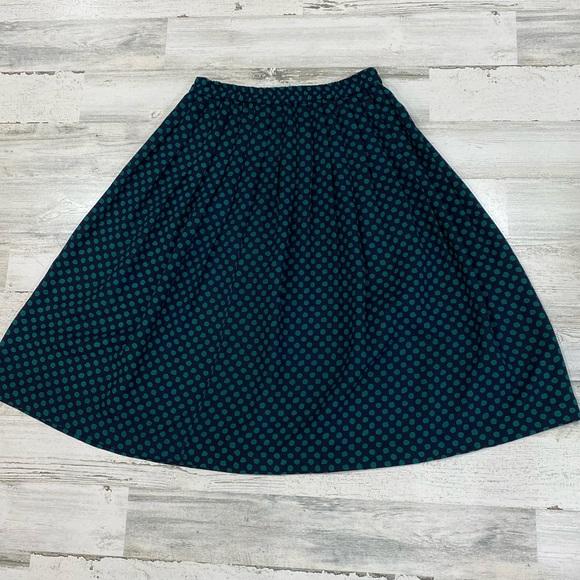 Vintage Cotton Skirt Vintage 90s Skirt Midi Length Designer Skirt Medium